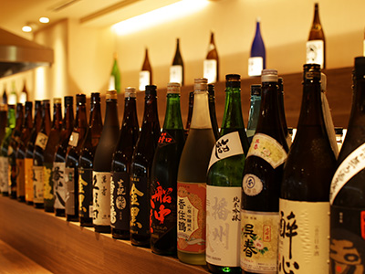 各地から取り寄せた日本酒 粋旬