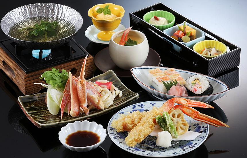 かに天ぷらとかにすき膳 白鷺館