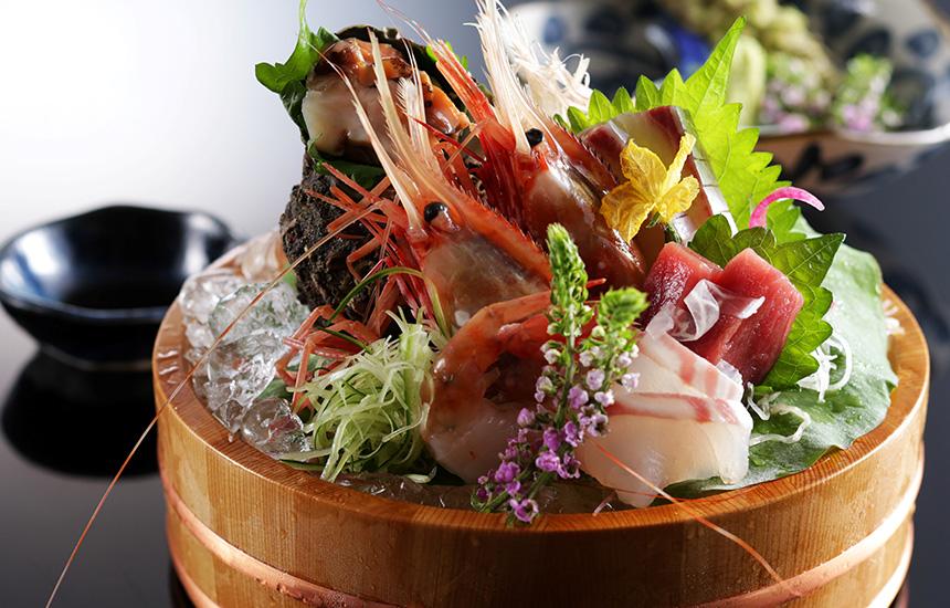 鮮魚のお造り(盛り合わせ5種) 粋旬